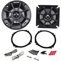 Pair of Kicker 40PS44 4 60 Watts Peak 4 Ohm ATV/Motorcycle Speakers - Fits Honda Goldwing