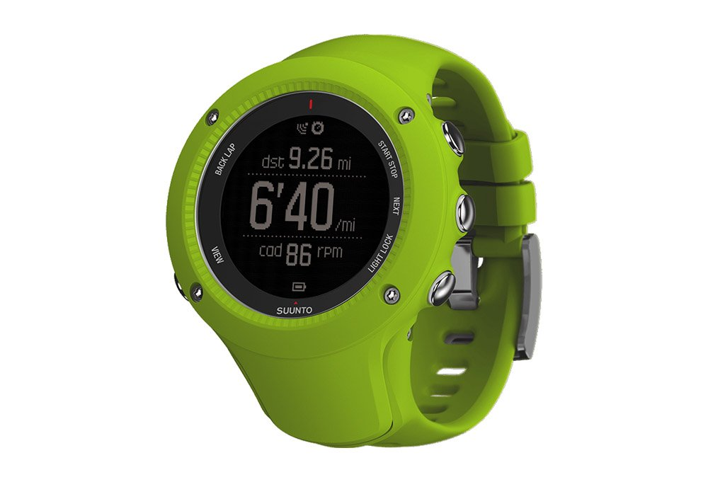 Suunto Ambit3 Run GPS Watch Lime w Heart Rate Monitor