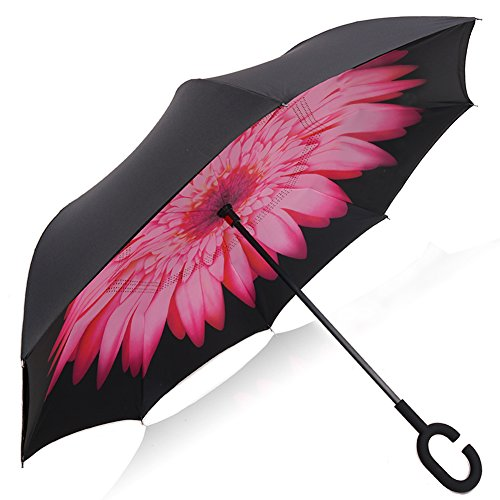 yeipis-inverted-umbrella-double-layer-reverse-folding-windproof-protection-sunrain-car-umbrella-pink