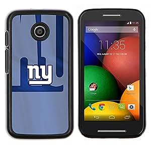 NY Equipo deportivo- Metal de aluminio y de plástico duro Caja del teléfono - Negro - Motorola Moto E / XT1021 / XT1022