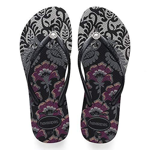 Negro Royal Sandalia Para Ceniza Havaianas Delgada Mujer qOwzSxB1A