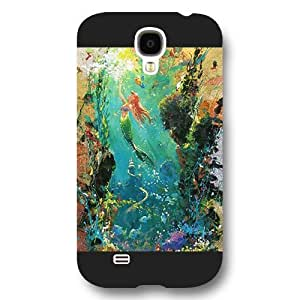 UniqueBox Customized Disney Series Case for Samsung Galaxy S4, The Little Mermaid Samsung Galaxy S4 Case, Only Fit for Samsung Galaxy S4 (Black Frosted Shell)