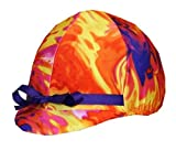 Product review for Equestrian Riding Helmet Cover - Pink, Orange & Purple Tie Dye by Helmet Covers Etc.