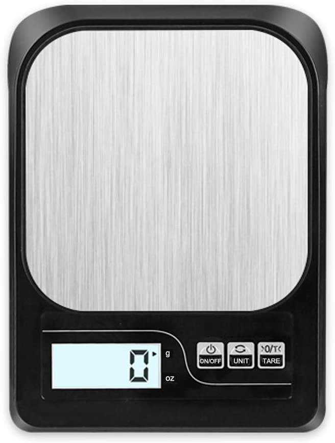 chusecure Food Scale Digital Weight Grams and Oz Kitchen Scale Gram Scale Baking Scale 11 lb 1g/0.1oz Precise Graduation Small Scale for Cooking Weight Loss Waterproof Platform Backlit LCD (Black)