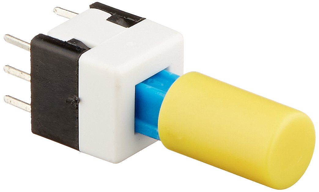 Uxcell Momentary 6-Pin Tact/Tactile Switch, 8 x 8 x 21mm