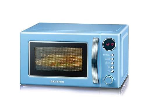 Severin MW 7894 Microondas con grill 2 en 1, 20 litros, Azul