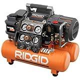Factory-Reconditioned Ridgid ZROF50150TS 5 Gallon Oil-Free Tri-Stack Air Compressor