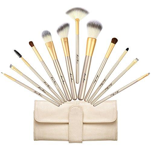 Makeup Brush Set, Premium 12 Pcs Synthetic Kabuki Face Eyeshadow Eyeliner Foundation Blending Blush Makeup Brushes Powder Liquid Cream Cosmetic Brushes Kit with Bag by MintBear