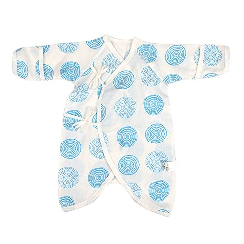 - Fairy Baby Newborn Baby Clothes Japanese Kimono Gown Organic Cotton Floral Romper Pajamas Size 0-3M (C)