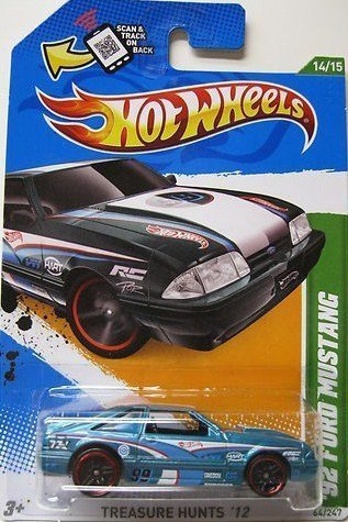 2012 Hot Wheels Treasure Hunt '92 Ford Mustang Teal/White #14/15