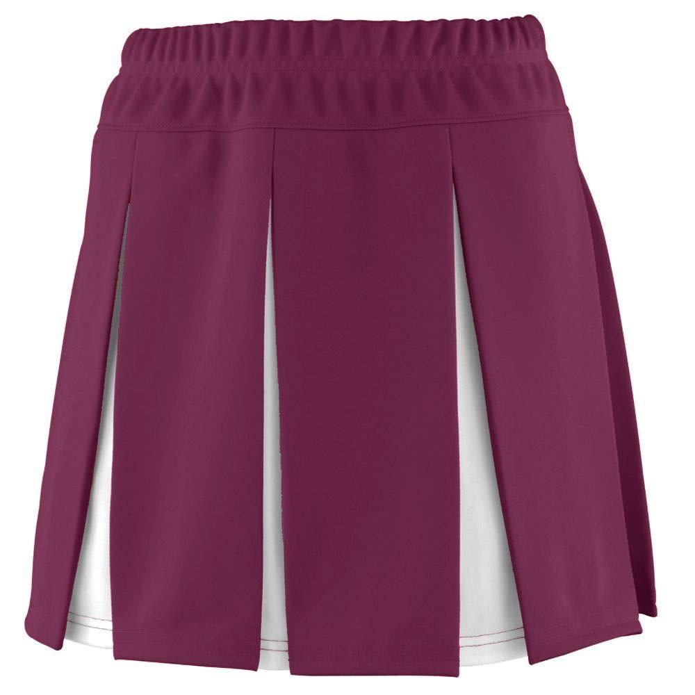 Augusta Sportswear Girls' Liberty Skirt XS Maroon/White by Augusta Sportswear
