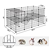 SONGMICS Pet Playpen Includes Cable Ties, Metal
