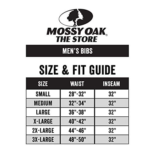 Mossy Oak Men's Mo Cotton Mill 2.0 Hunt Bib, Obsession, 3X-Large by Mossy Oak (Image #2)
