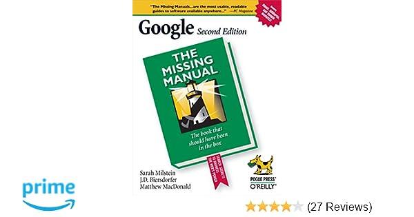 amazon com google the missing manual 0636920100195 sarah rh amazon com Pcoket Guide Blip Scale User's Guide