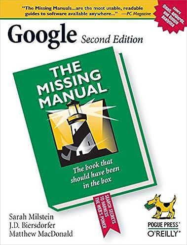 amazon com google the missing manual 0636920100195 sarah rh amazon com Manual Guide Cover Manual Guide Cover