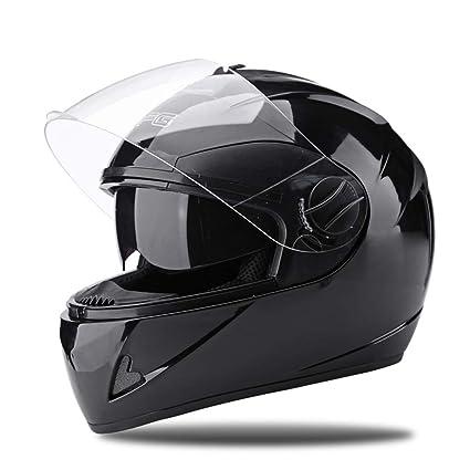 Casco de la motocicleta macho cuatro estaciones Casco de rostro completo femenino Casco de la personalidad