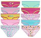 Sweet & Sassy Girls Underwear Panties, Size 5-6, Peace, 10 Pack'