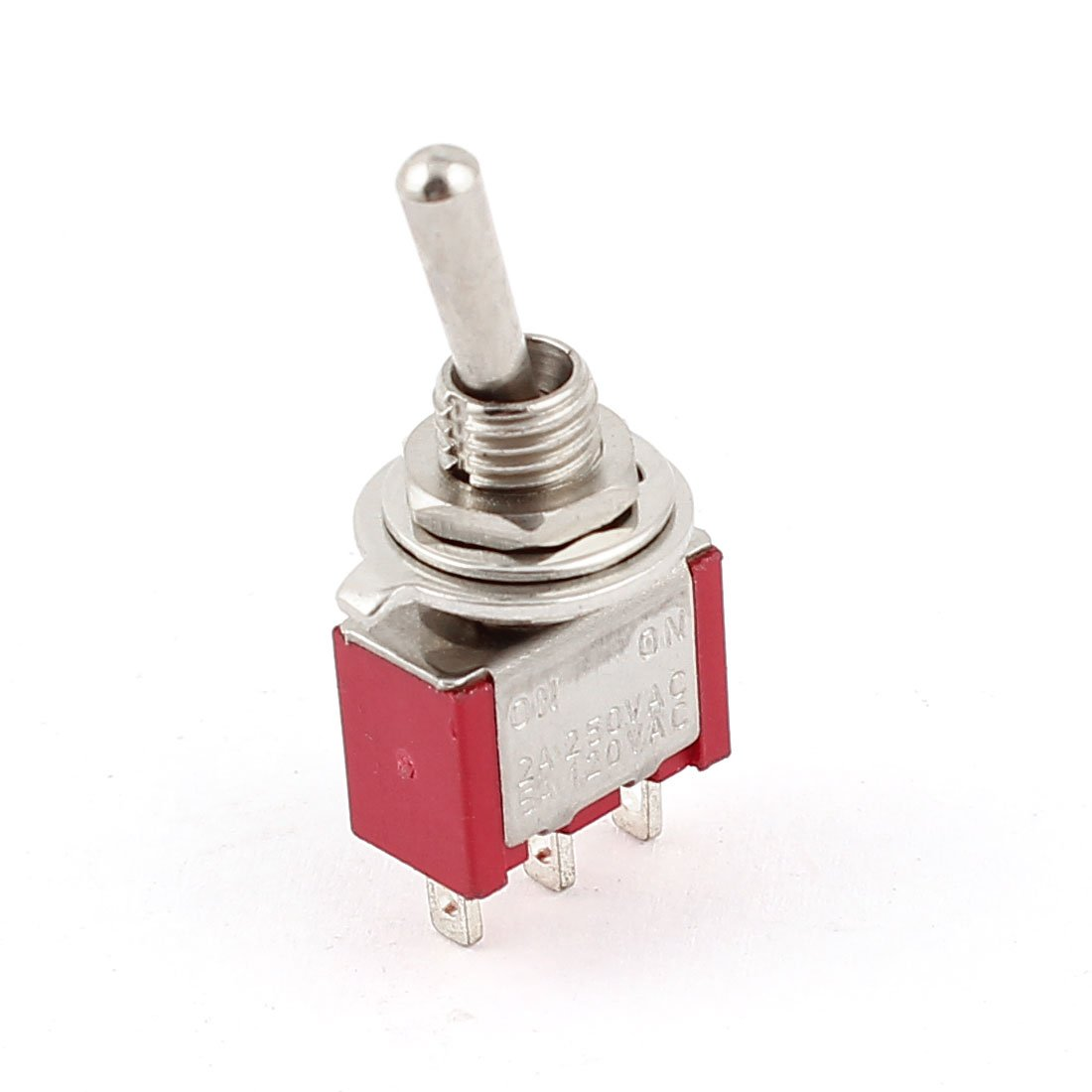 ON Model Rail X 5 SPDT ON-OFF- Miniature Toggle Switch Sprung loaded Switch