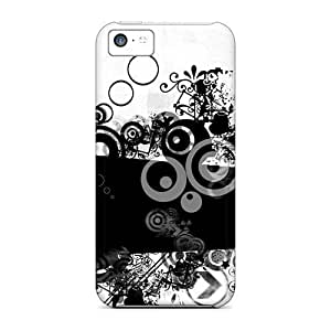 XiFu*MeiDurable Protection Case Cover For iphone 6 4.7 inch(abstract Black Circles Wallpaper)XiFu*Mei