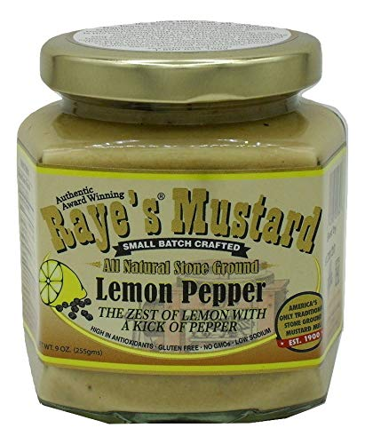 Raye's Lemon Pepper All Natural Stone Ground Mustard ()