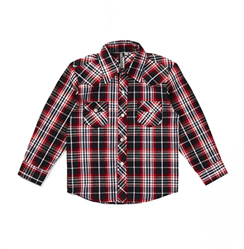 Knuckleheads Rockabilly Button Down Plaid Shirts (4t, Bolt Flannel)