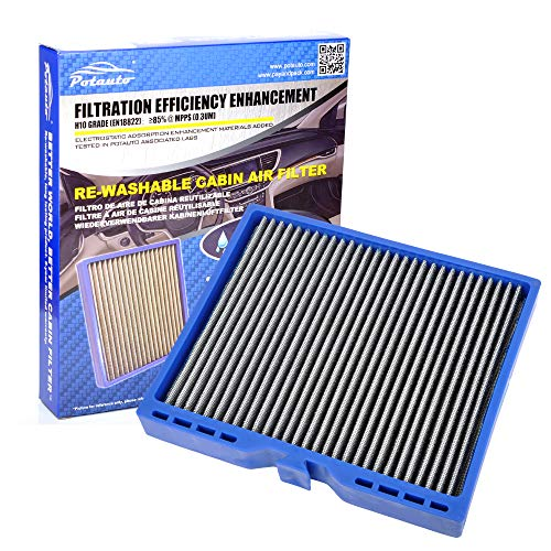 Potauto MAP 5007 Re-Washable Cabin Air Filter Cleans Airflow for Buick, Cadillac, Chevrolet, SAAB