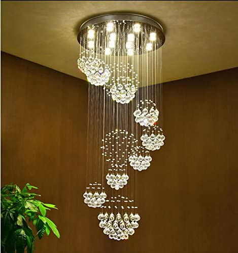 Siljoy Modern Spiral Crystal Chandelier Lighting
