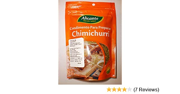Amazon.com : Condimento Para Preparar Chimichurri Alicante Ponele Sabor La Virginia 25g Industria Argentina : Grocery & Gourmet Food