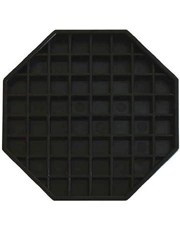 Update International DT-6X6 Octagonal Plastic Drip Tray, 6 by 6-Inch