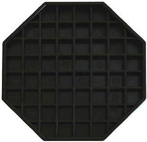 Update International (DT-6X6) Octagonal Plastic Drip Tray