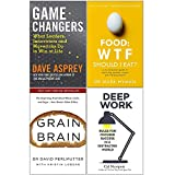 Game Changers, Food Wtf Should I Eat, Grain Brain, Deep Work 4 Books Collection Set