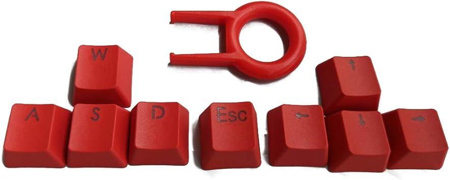 Tapas para teclado de 9 teclas PBT Backlit Keycaps WASD/ESC/dirección Key Cap Puller para interruptores MX.