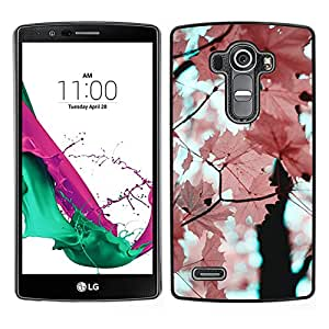 For LG G4 , S-type® Pink Leaves Maple Tree Branch - Arte & diseño plástico duro Fundas Cover Cubre Hard Case Cover