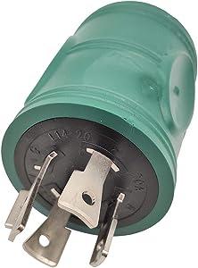 Parkworld 884975 Generator Adapter 4-Prong Locking 20A L14-20 Plug to 30A Locking L14-30 Receptacle
