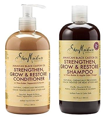 Shea Moisture Jamaican Black Castor Oil Strengthen Grow & Restore Shampoo and Conditioner Set