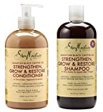 Shea Moisture  Strengthen, Grow & Restore Shampoo and Conditioner Set, Jamaican Black Castor Oil Combination Pack, 16.3 oz Shampoo & 13 oz. Conditioner offers