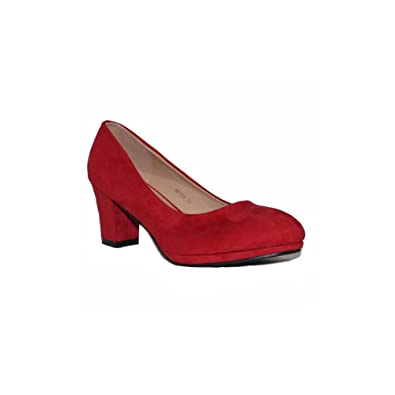14590aa8376ae BENINI SHOES Zapato TACÓN SALÓN A6149 Zapatos de Mujer de Tacón Negros  Rojos Elegantes Cómodos Fiesta de Vestir  Amazon.es  Zapatos y complementos
