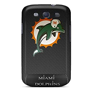 JoanneOickle Samsung Galaxy S3 Shock Absorption Cell-phone Hard Covers Allow Personal Design Lifelike Miami Dolphins Series [iSz4772HdTE]