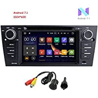 MCWAUTO For BMW E90/2006-2011 BMW E91/2006-2011 BMW E92/2006-2011 BMW E93 Android 7.1 Quad Core 7 Inch Car Stereo Multi-Touch Screen Radio CD DVD Player 2 DIN 1080P Video Screen