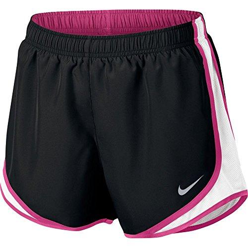 Running Nike Dri Women Fit Shorts Tempo (NIKE Womens Dri-Fit Tempo Running Shorts Black/White/Vivid Pink 831558-020 Size Large)