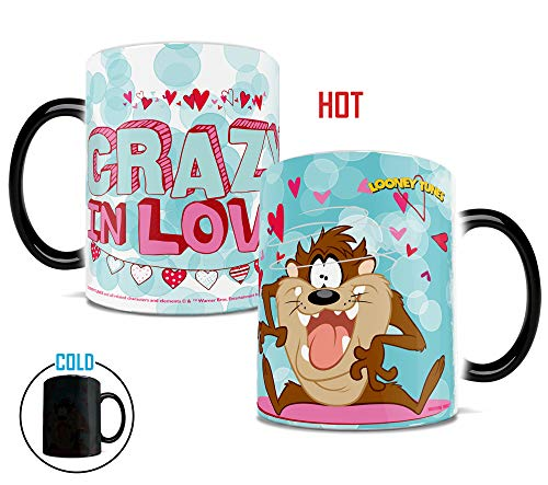 Morphing Mugs Looney Tunes Taz Crazy in Love Valentines Day Heat Reveal Ceramic Coffee Mug - 11 -