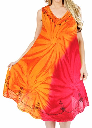 Tie Dye Smocked Dress - 6