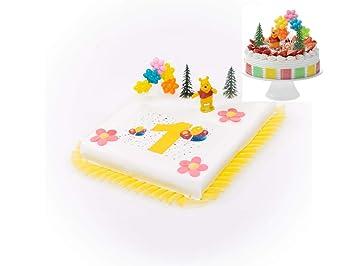 Tortendeko 1 Geburtstag Winnie Pooh 8 Teilig Tortenaufleger Kuchen