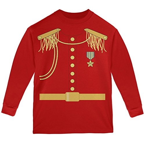 Prince Charming Costume Red Youth Long Sleeve T-Shirt - Youth Medium (Prince Charming Costume For Kids)