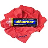 """The Absorber Synthetic Drying Chamois, 27"""" x 17"""", Red"""
