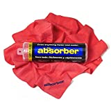 """CleanTools 41149 The Absorber Synthetic Drying Chamois, 27"""" x 17"""", Red"""