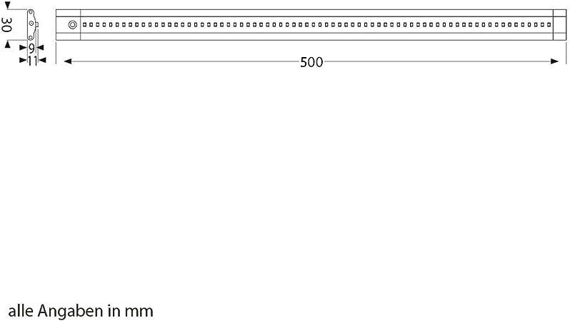 je 50cm 3er Set weiß 100cm Kabel flach 500lm LED Unterbau-Leuchte SIRIS