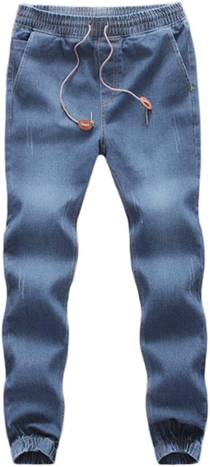 Dettagli su Jeans uomo grigio denim pantaloni casual slim fit Pantaloni da uomo aderenti