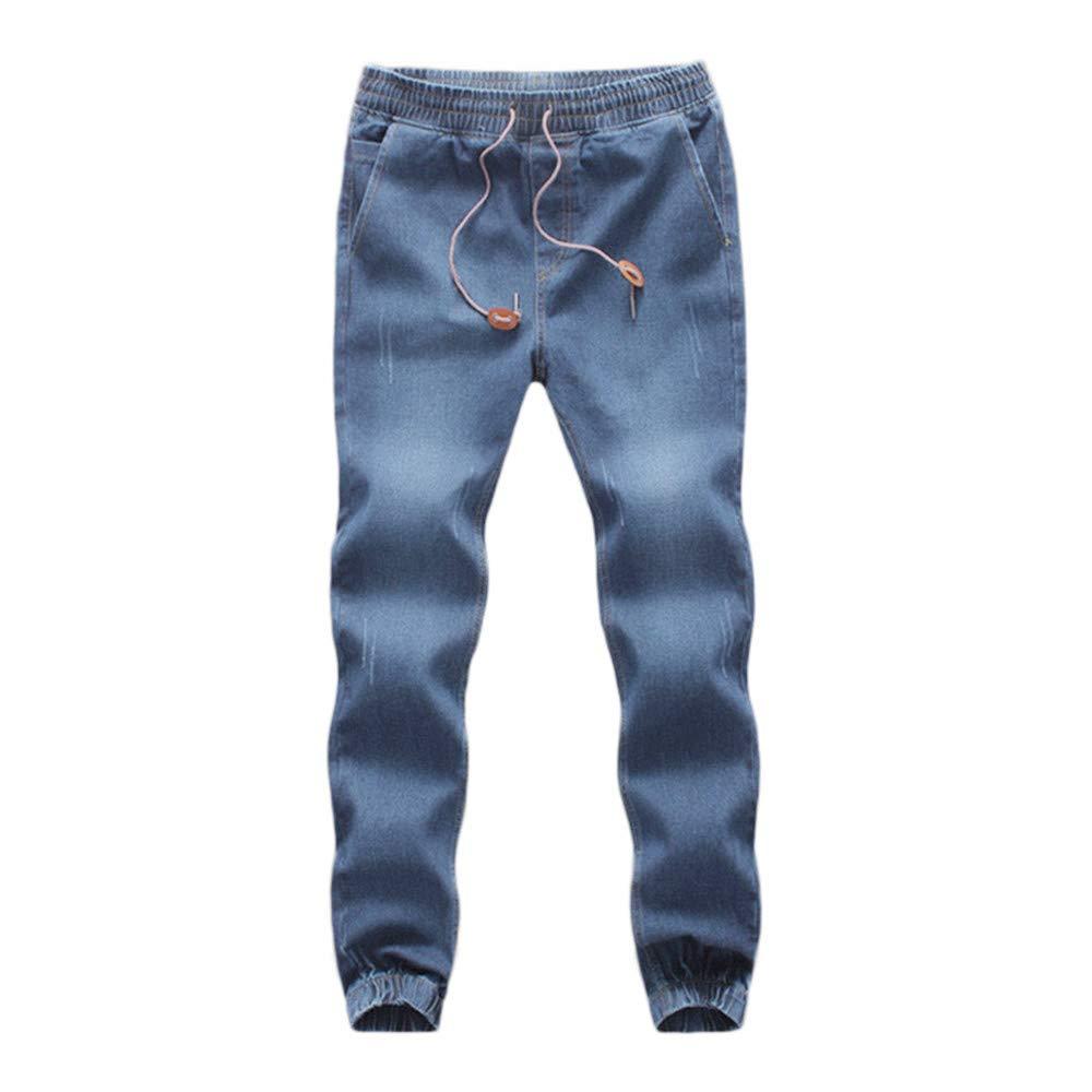 VPASS Pantalones Vaqueros para Hombre,Pantalones Casuales Moda Deportivos Running Pants Skinny Elásticos Pantalon Fitness Jeans Largos Pantalones Ropa ...