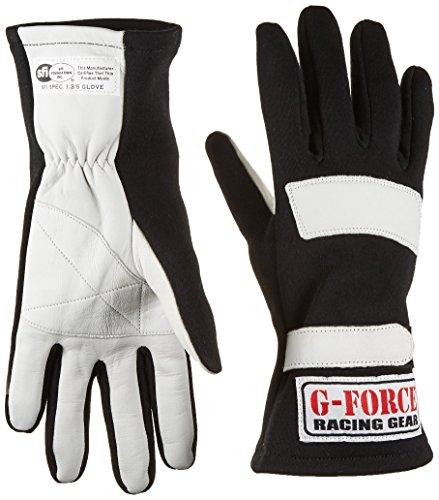 G-Force 4101LRGBK G5 Black Large Junior Racing Gloves